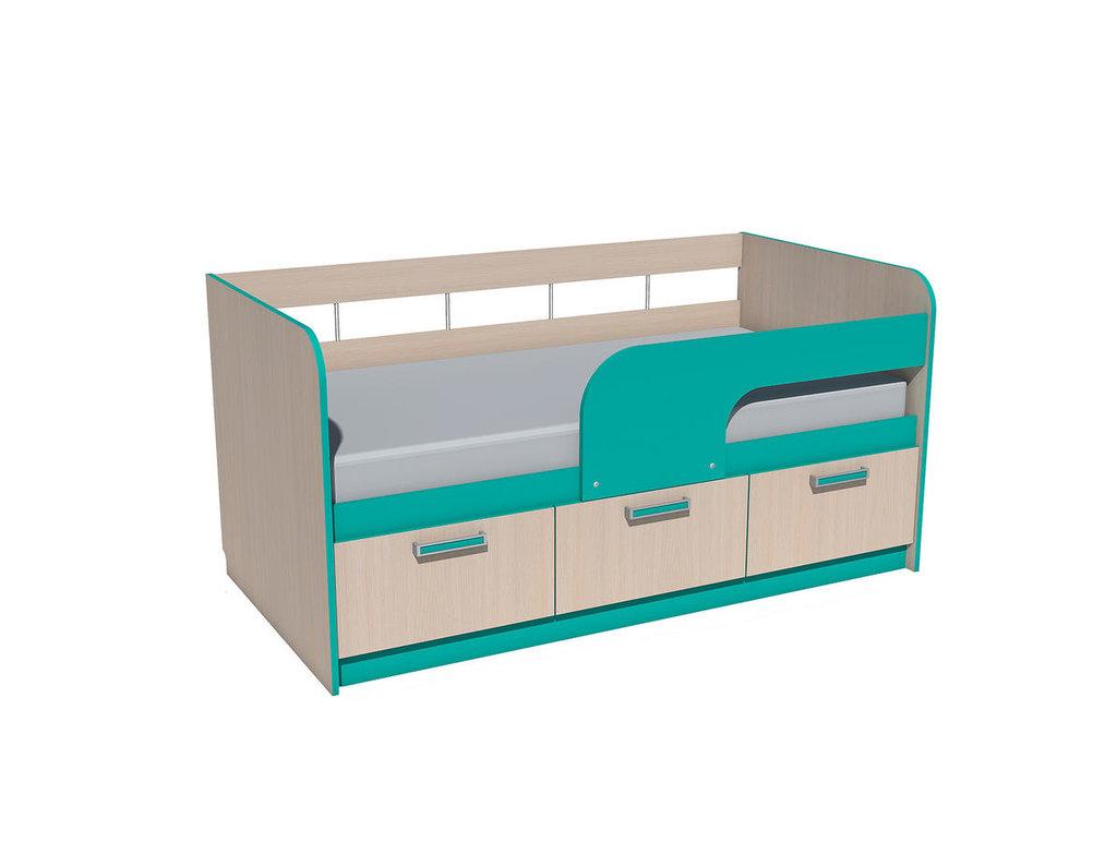 Детские и подростковые кровати: Кровать НМ 039.03 Рико (800x1600, усилен. настил) в Стильная мебель