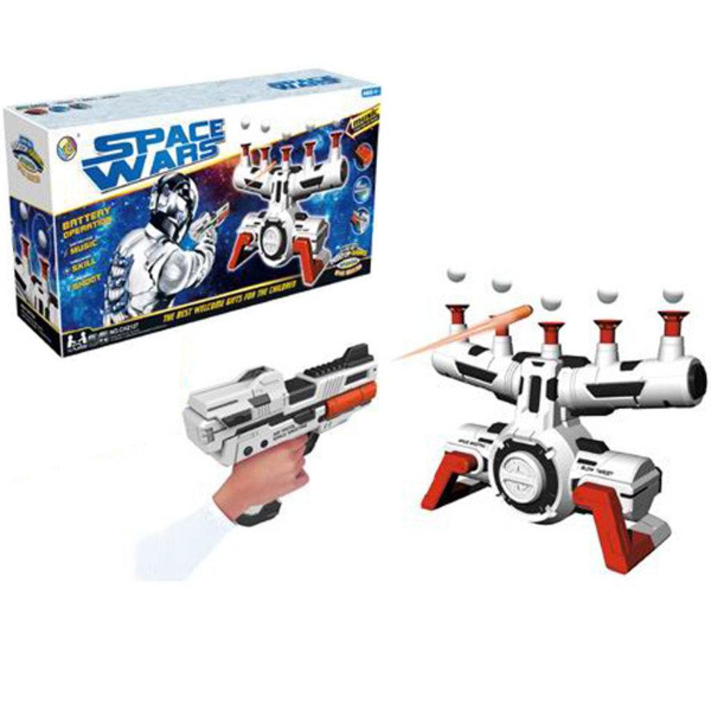 """Игрушки для мальчиков: Набор """"Меткий стрелок"""" на батарейках.✅Космический тир: Левитация. Стрельба по парящим в воздухе мишеням. в Игрушки Сити"""
