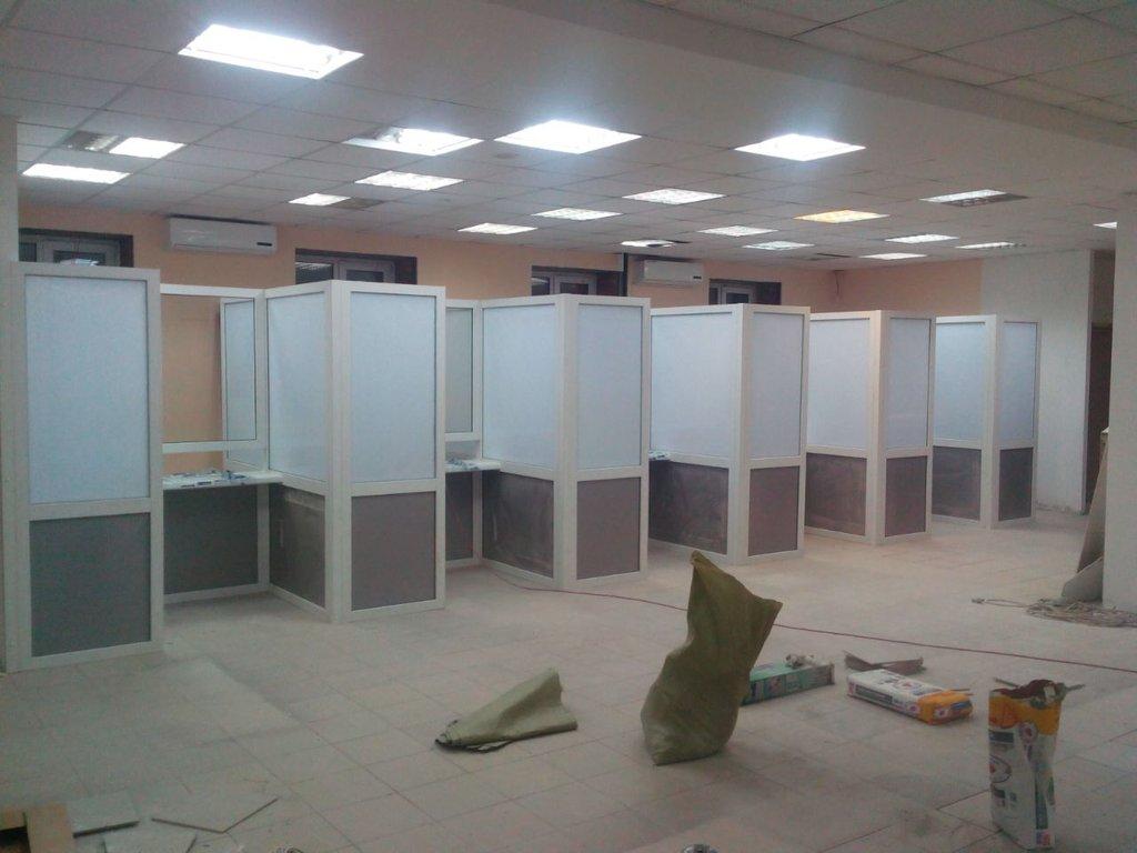 Установка: Офисные перегородки в ПластЭК