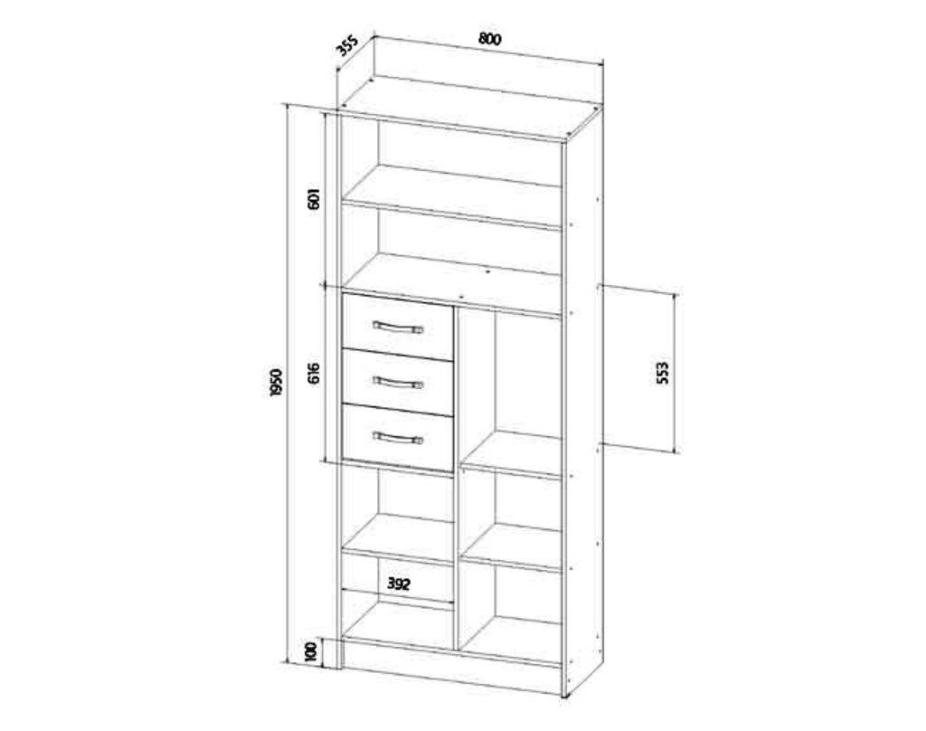 Детские шкафы и стеллажи: Шкаф стеллаж Буратино в Стильная мебель