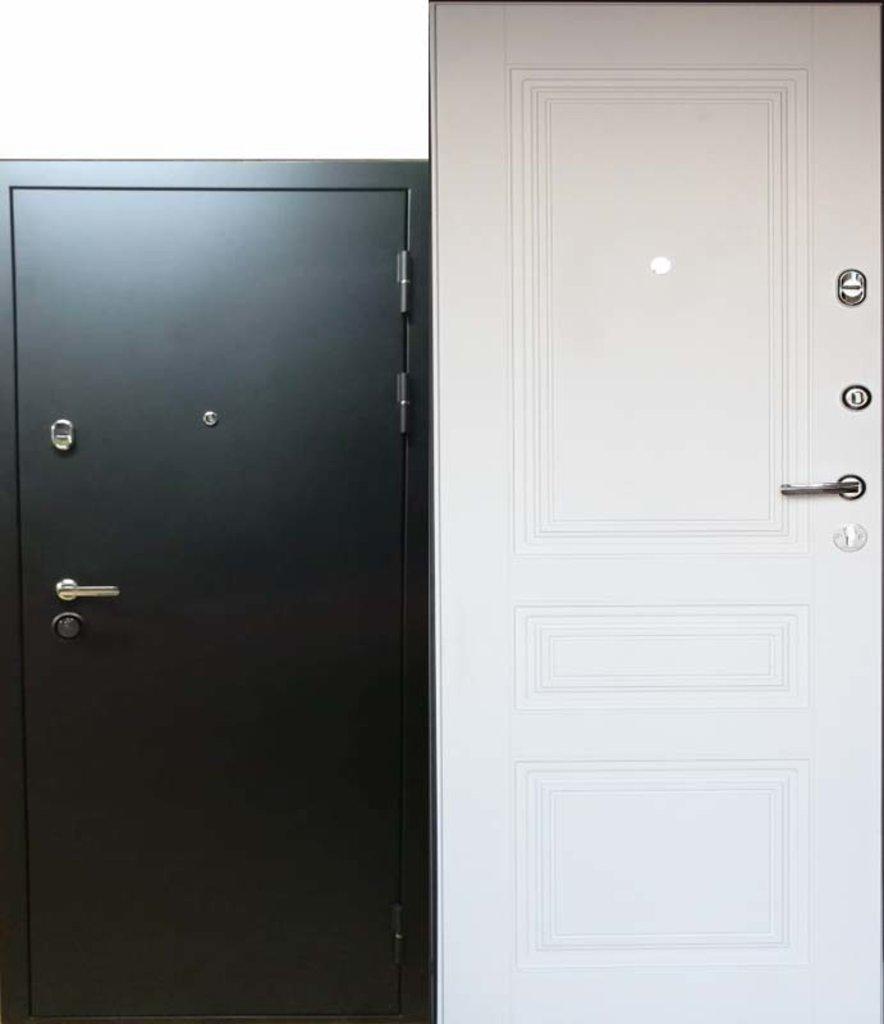 Двери Титан: Классика Чёрный Муар/Белый глянец в Модуль Плюс