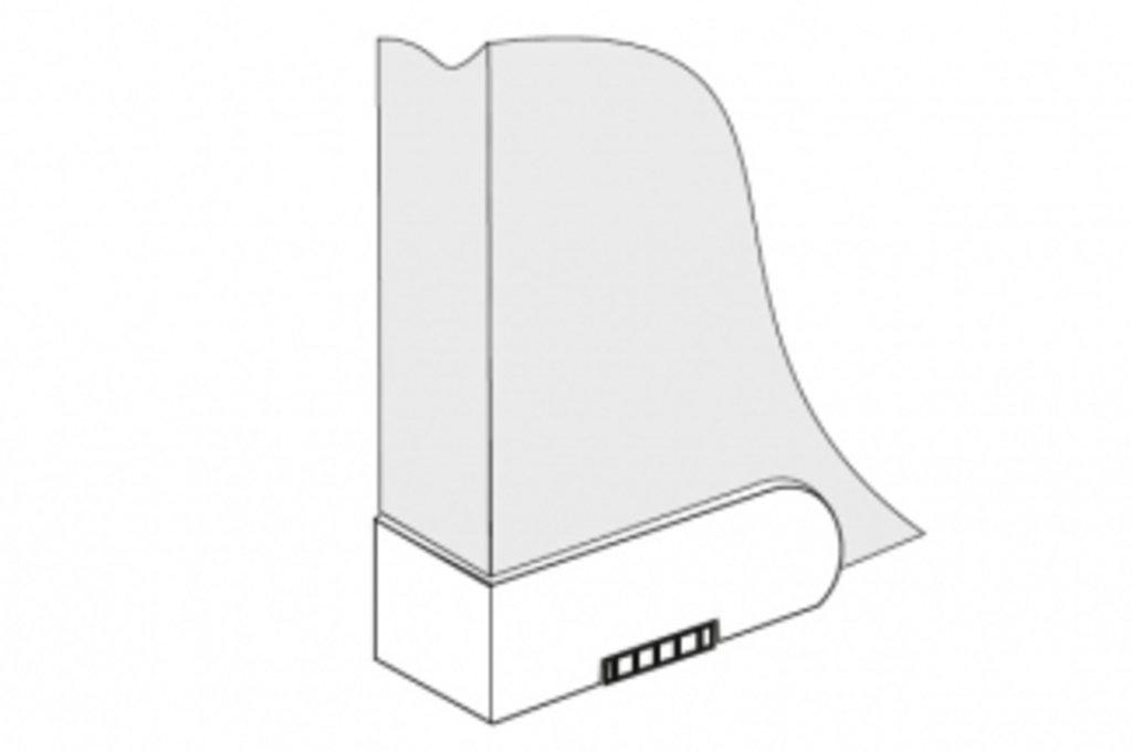 Ножки накладные: Комплект ножек для ДСП25мм, отделка чёрная (4шт.) в МебельСтрой
