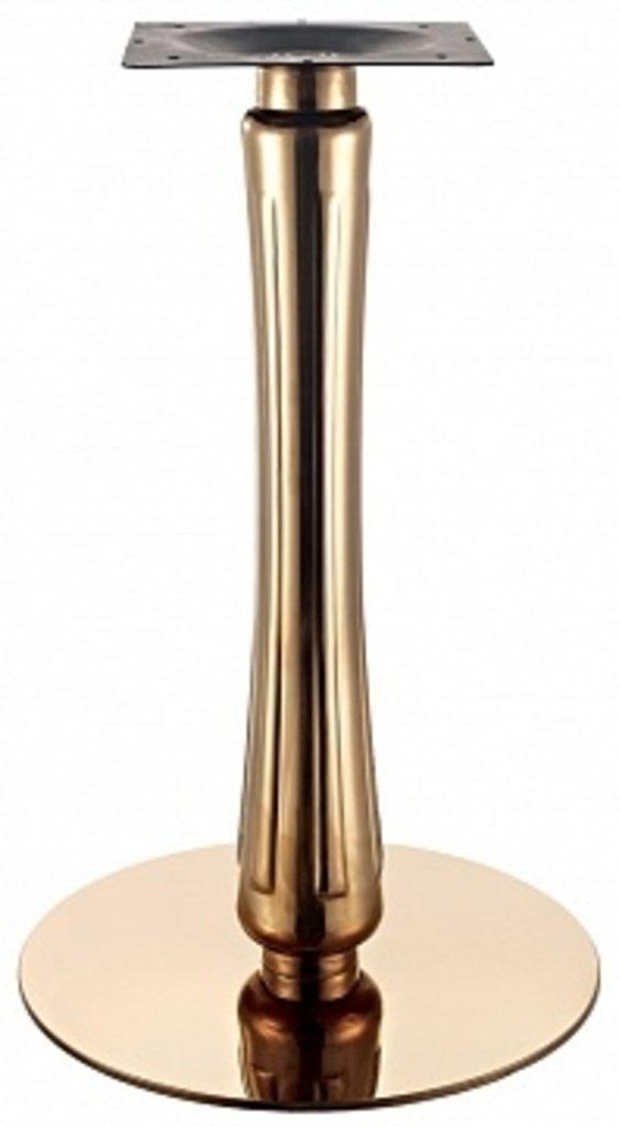 Подстолья для столов.: Подстолье 1289ЕМ (хром золото) в АРТ-МЕБЕЛЬ НН