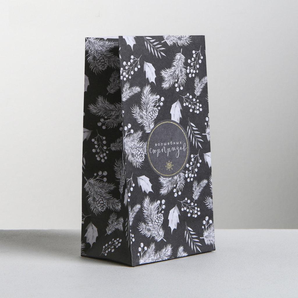 Пакеты: Пакет подарочный без ручек «Волшебных сюрпризов», 10 × 19.5 × 7 см в ТортExpress