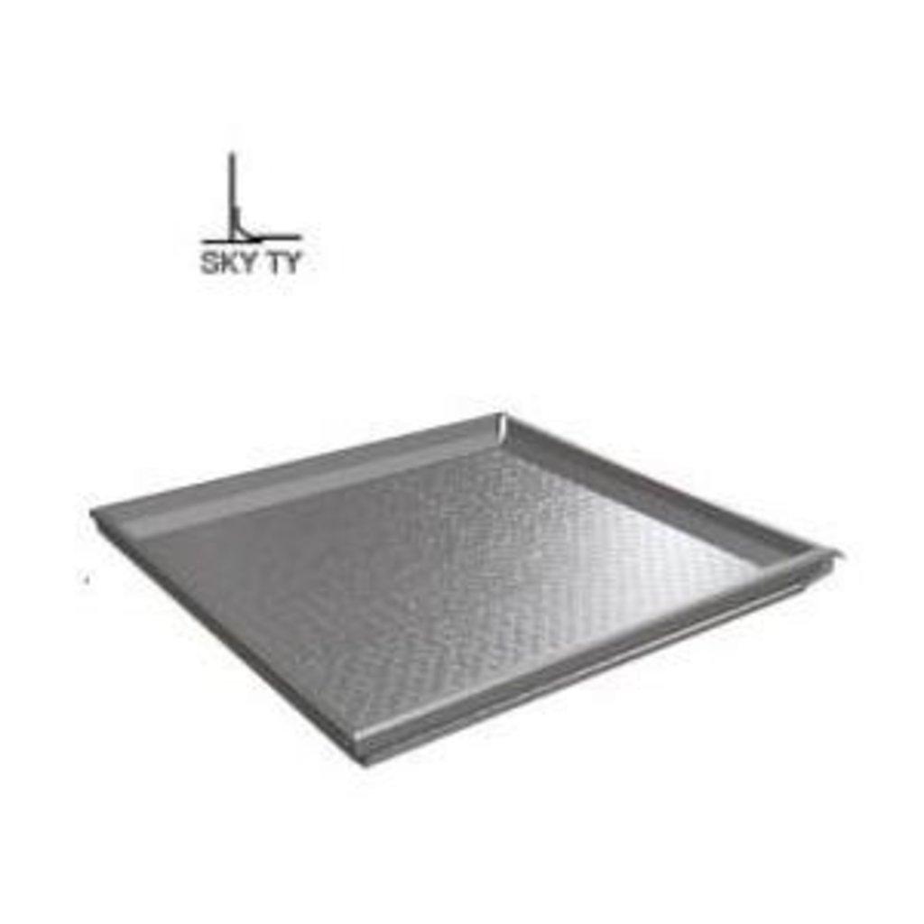 Кассетные металлические потолки: Алюминевая панель перфор. 1.8 мм SKY T24/TY  металлик серебристый (Cesal) в Мир Потолков