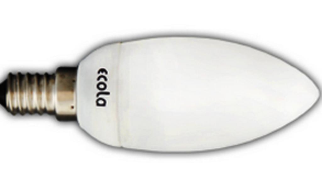 Энергосберегающие лампы: Ecola candle 7W УВВ в СВЕТОВОД
