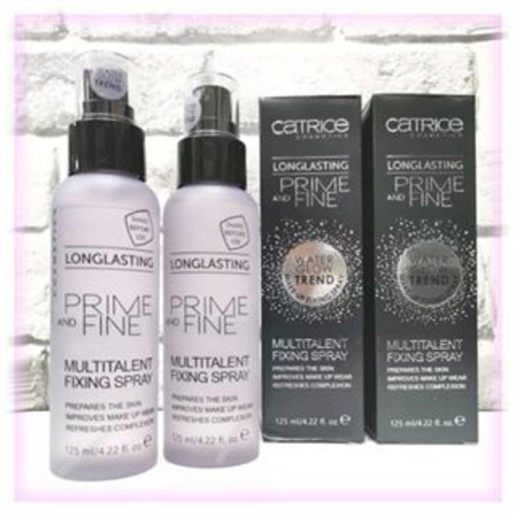 Фиксаторы для макияжа, праймеры: CATRICE  Фиксирующий спрей для макияжа Prime And Fine Multitalent Fixing Spray в Мой флакон