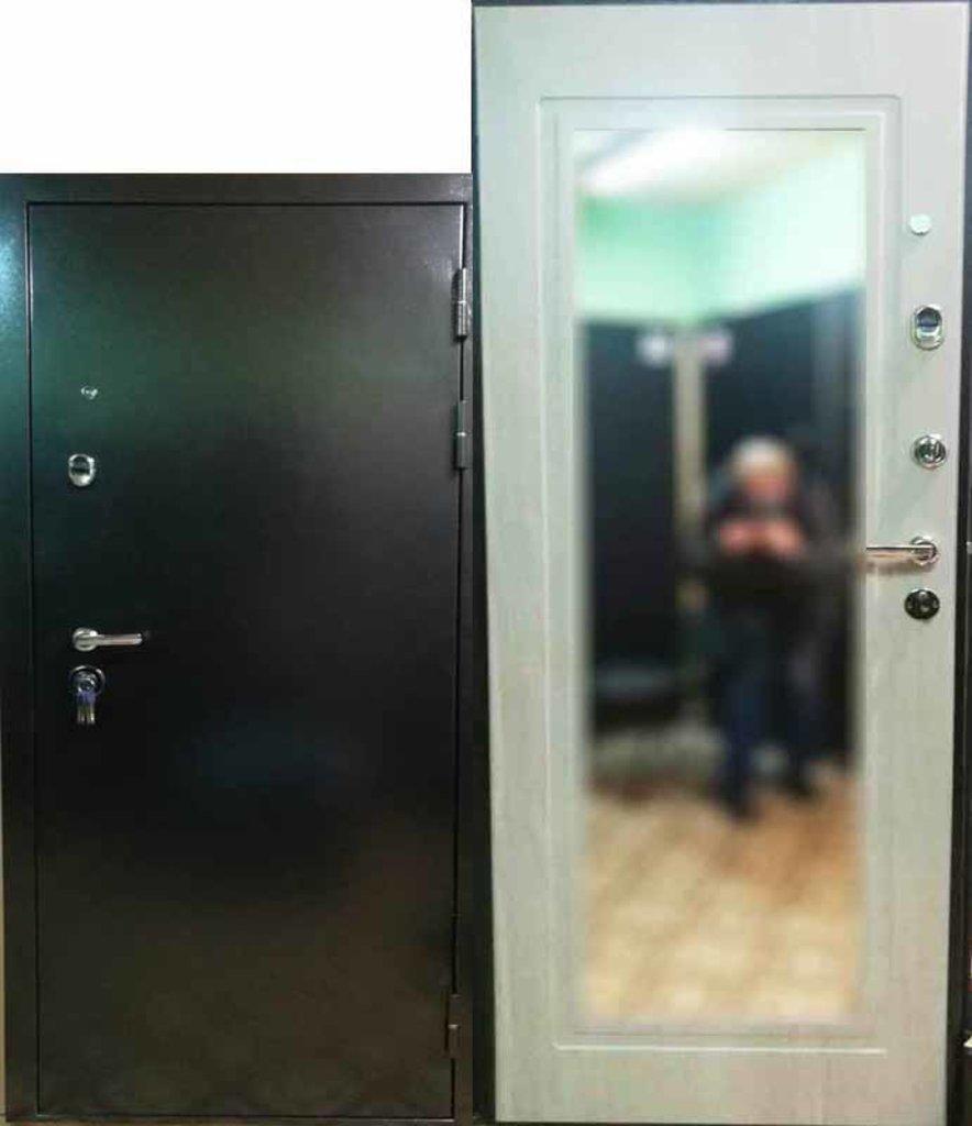 Двери Титан: Дверь T3 Титан Лиственница Зеркало в Модуль Плюс