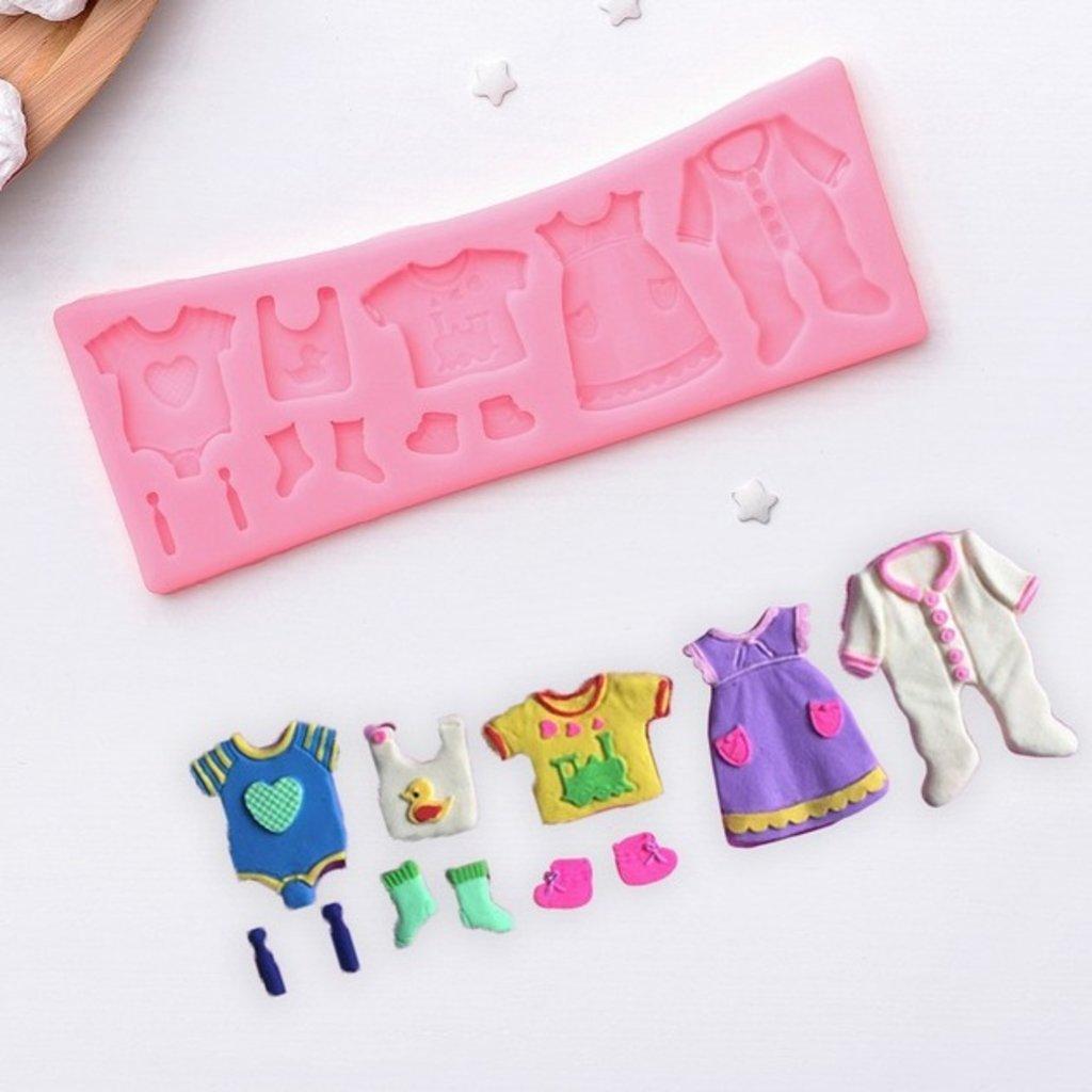 """Молды: Молд силиконовый 17×6,3 см """"Одежда для ребёночка"""" в ТортExpress"""