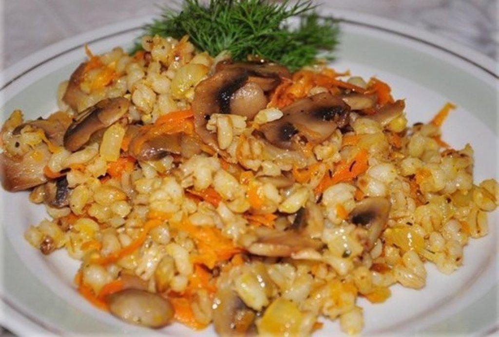 Пятница: Перловка с грибами 300гр (ПОСТ) в Смак-нк.рф