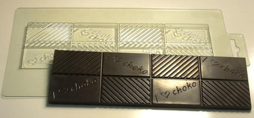 Пластиковые формы для шоколада: Форма для шоколада Плитка Чоколав в ТортExpress