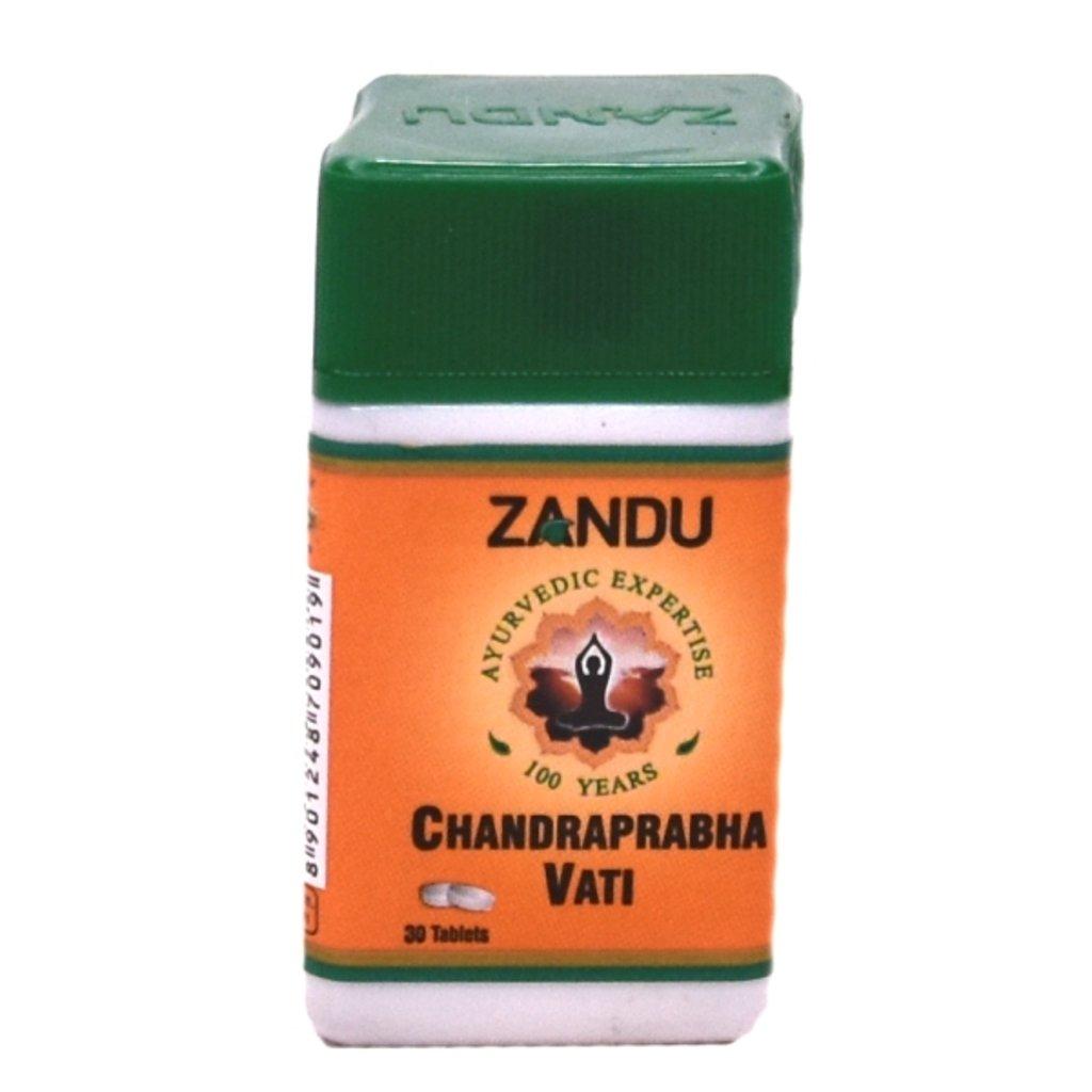 БАДы: Chandraprabha Vati (Zandu) - 30 tab в Шамбала, индийская лавка