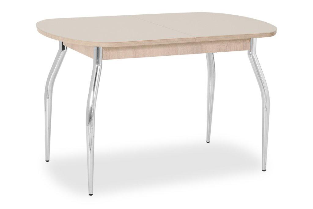 Столы кухонные.: Стол ПГ-01 раздвижной, матовое стекло (хром) в АРТ-МЕБЕЛЬ НН