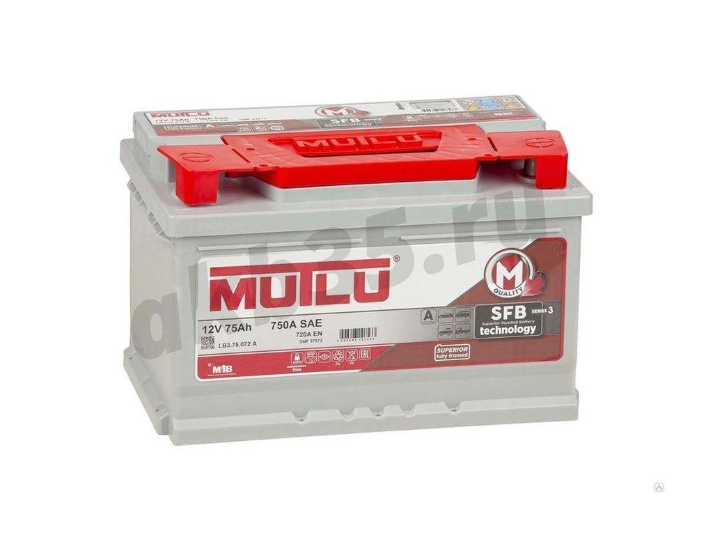 Аккумуляторы: MUTLU 75 А/ч Обратный Низкий SFB в Планета АКБ