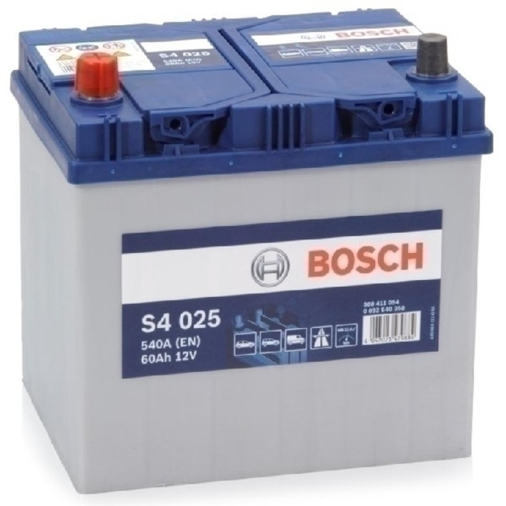 Bosch: BOSCH S4 12V 60Ah 540A в БазаАКБ