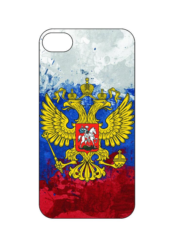 Выбери готовый дизайн для своей модели телефона: Герб РФ в NeoPlastic