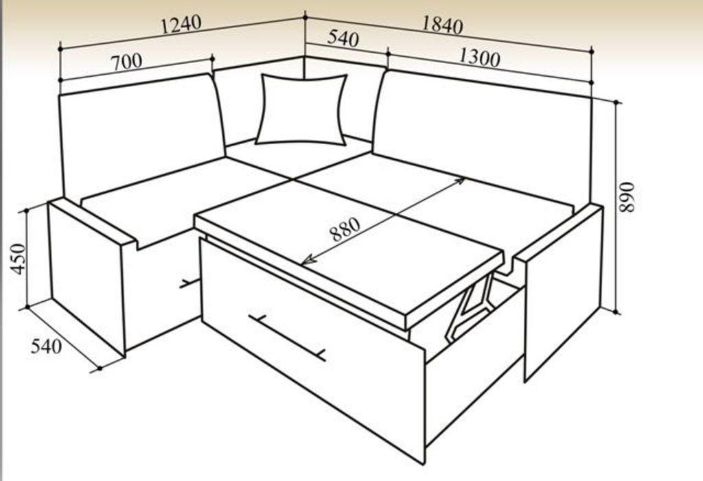 Кухонные уголки: Кухонный уголок КУ-50СБ 1840 в Уютный дом
