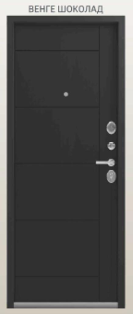 Двери Центурион: Центурион LUX 2 Чёрный шёлк/Венге шоколад в Модуль Плюс