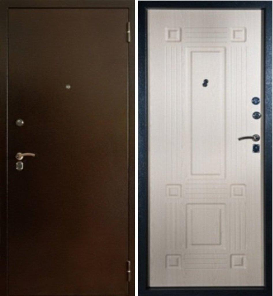 Входные двери Алмаз: Рубин, Серебро, Дуб беленый в Модуль Плюс