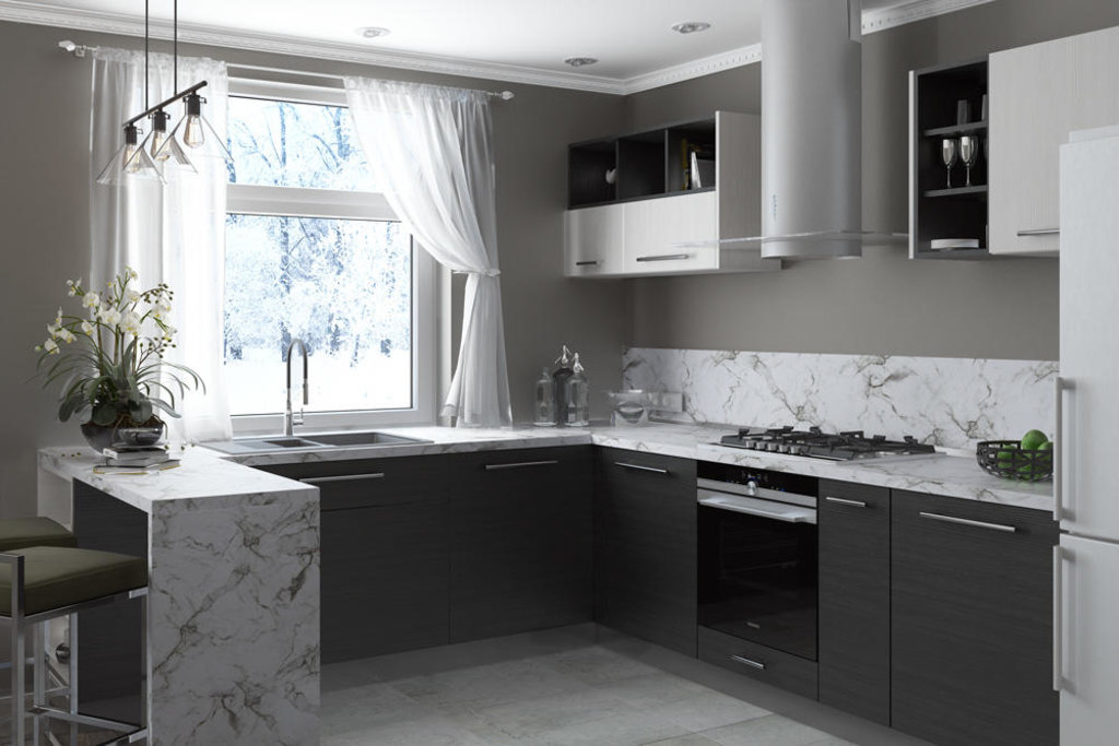 Кухни: Кухня ДСП-Софт в Стильная мебель