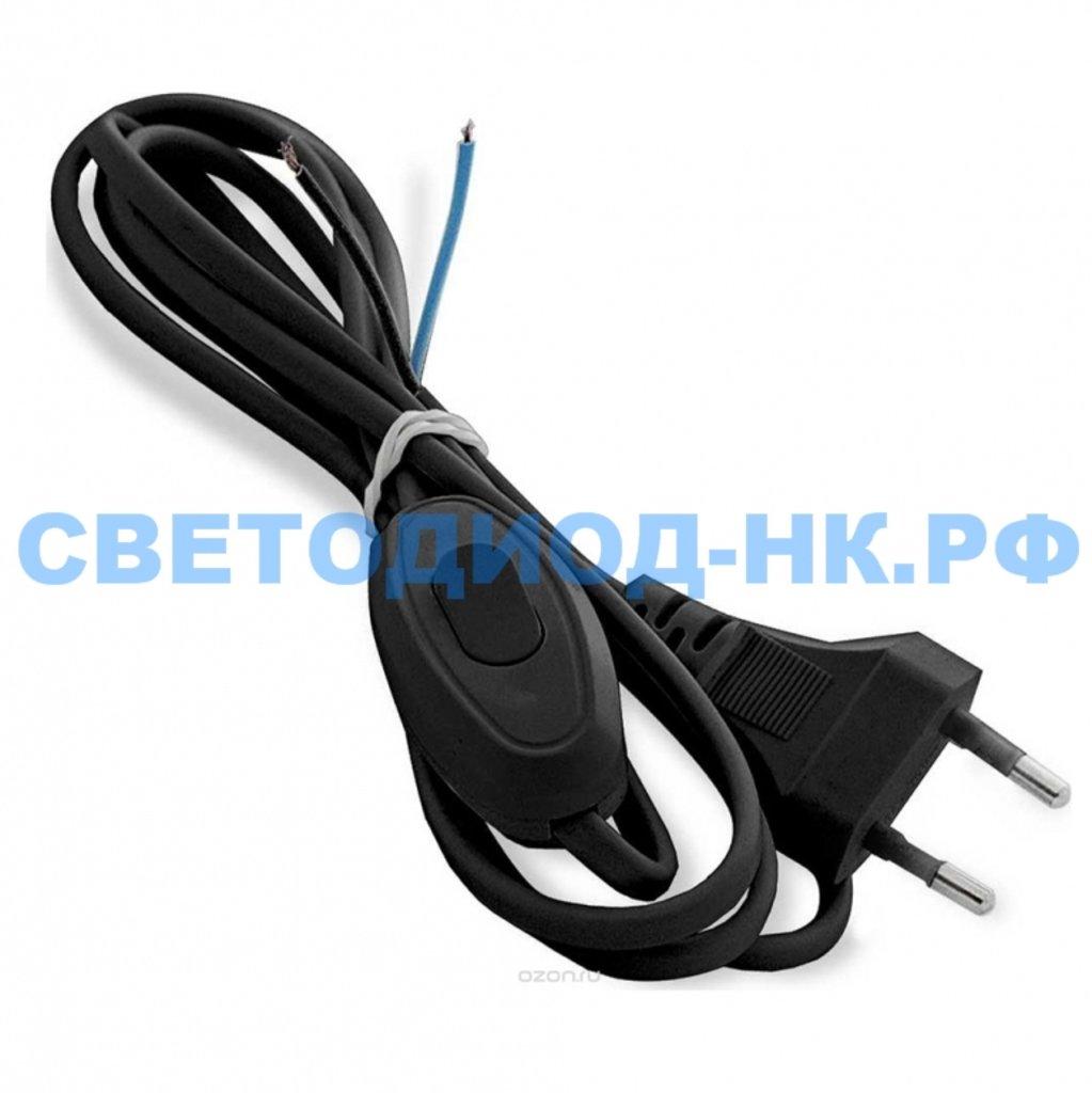 Провод, шнуры, переноски: Шнур с плоской вилкой и проходным выкл. SMARTBUY 1,7 метра черный ШВВП 2х0,75 (SBE-06-P05-b) в СВЕТОВОД