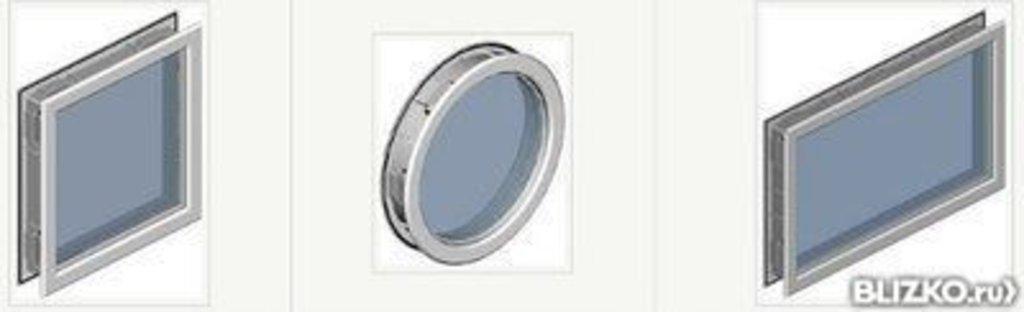 Окна для секционных ворот: Окно ALUTECH (322х322х45мм, квадрат., рама белая, остекление прозрачное в АБ ГРУПП