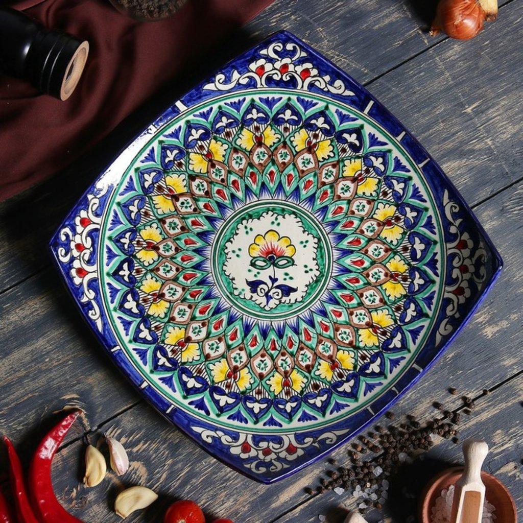 Казаны. Узбекская и турецкая посуда: Блюдо «Риштон» (квадратное) в Сельский магазин