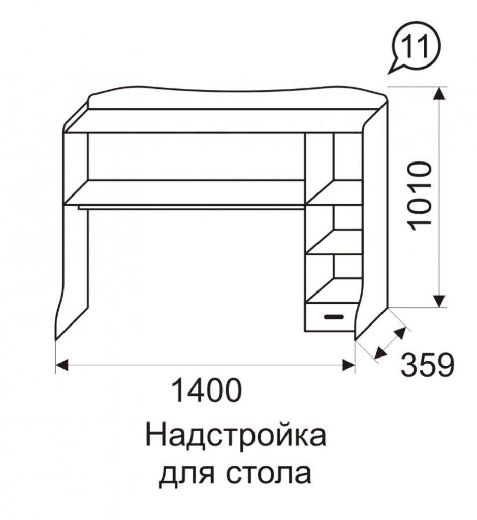 Детская мебель: Надстройка для стола 11 Квест в Стильная мебель