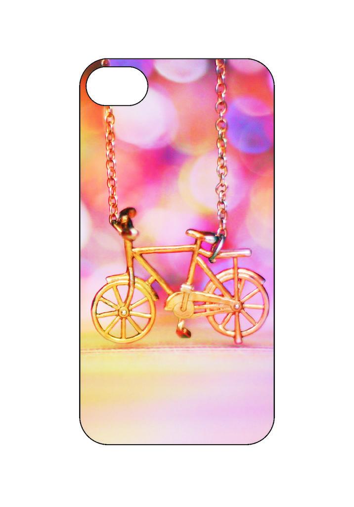 Выбери готовый дизайн для своей модели телефона: Велосипед в NeoPlastic