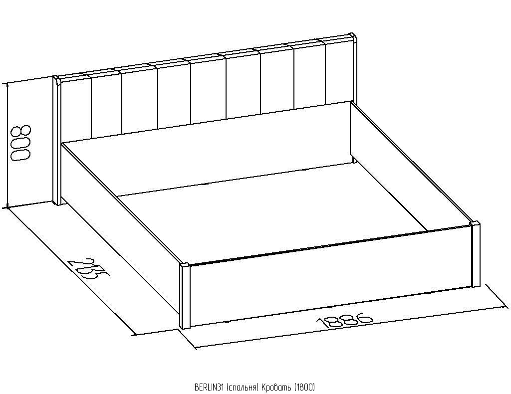 Кровати: Кровать BERLIN 31 (1800, орт. осн. дерево) в Стильная мебель