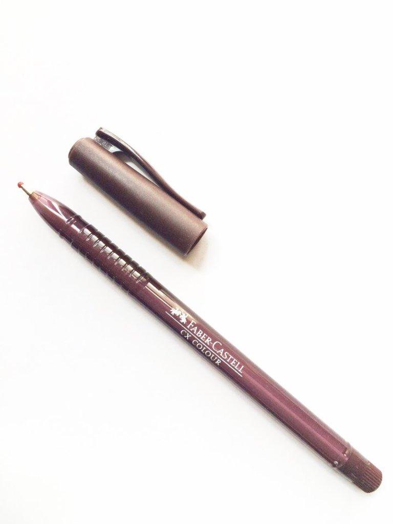 Ручки: Роллер СХ5 , коричневый , 1.0 мм Faber-Castell в Шедевр, художественный салон