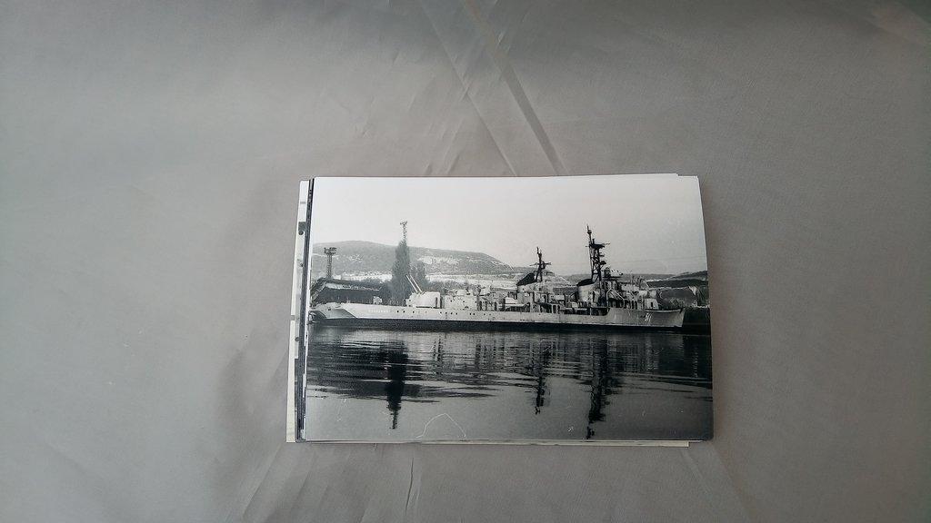 """Редкие фото: Комплект  фотографий эскадренного миноносца """"Солидный"""" пр.30БВ, бортовой номер 511 в апреле 1988 года в Модели кораблей"""