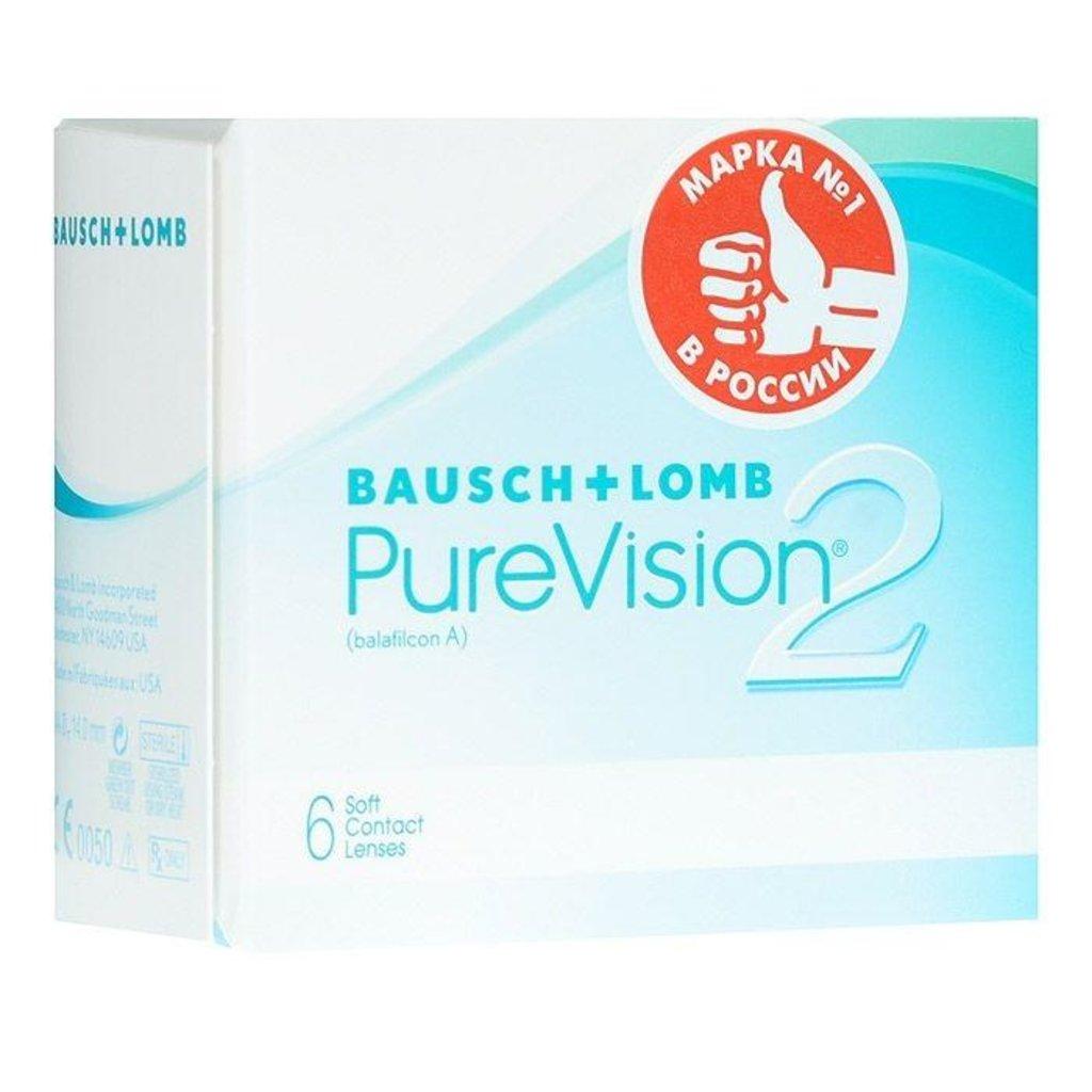Контактные линзы: Контактные линзы Pure Vision 2 (6шт / 8.6) Bausch & Lomb в Лорнет