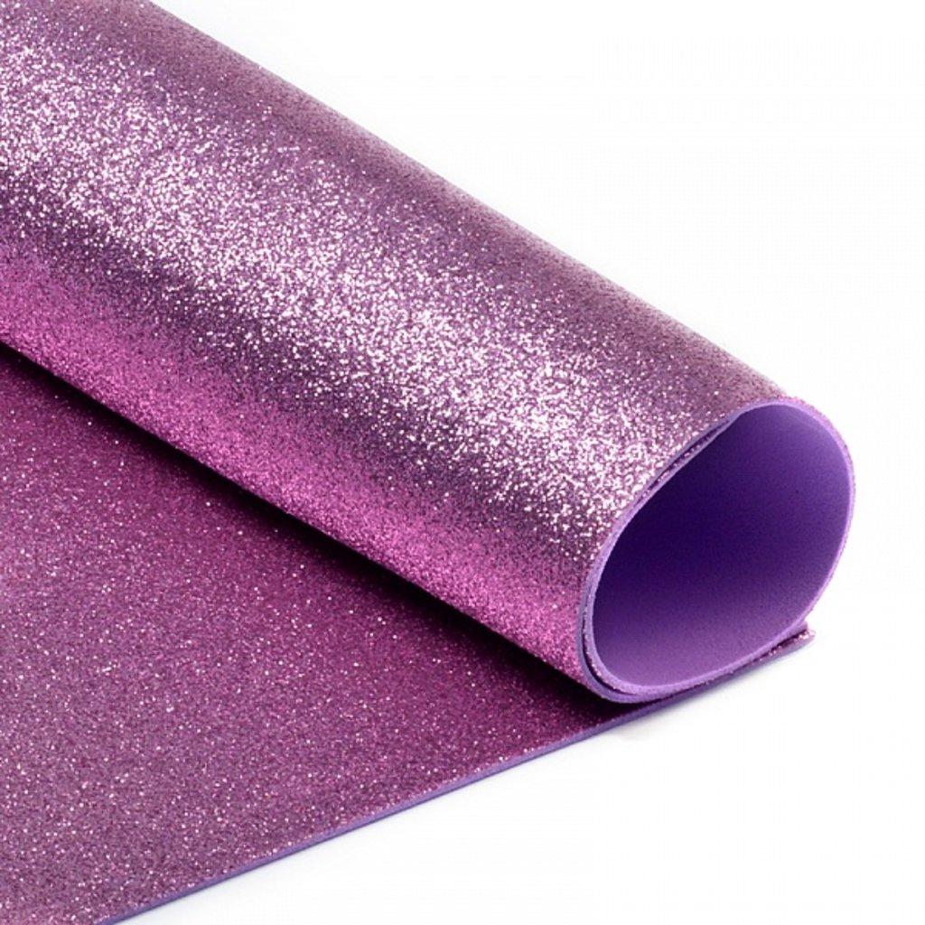 Фоамиран: Фоамиран глиттерный 2мм 20*30см розовый, 1 лист в Шедевр, художественный салон