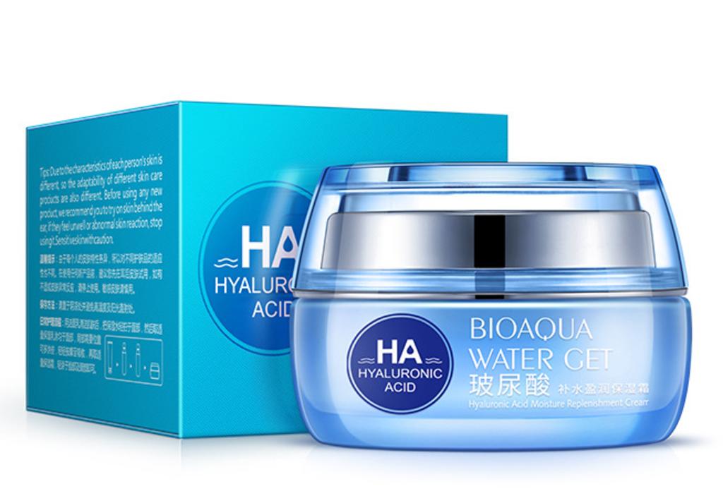 Крема, гели: Крем увлажняющий, омолаживающий с гиалуроновой кислотой Water Get Hyaluronic Acid (50г), BIOAQUA в Мой флакон