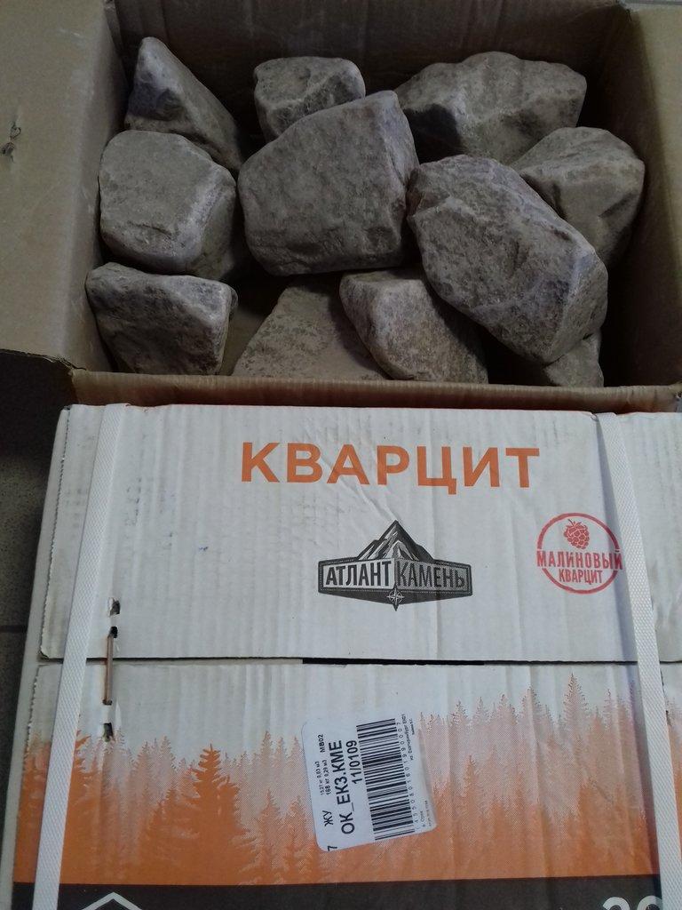 Камни для парной: Кварцит многоцвет коробка 20 кг. в Погонаж