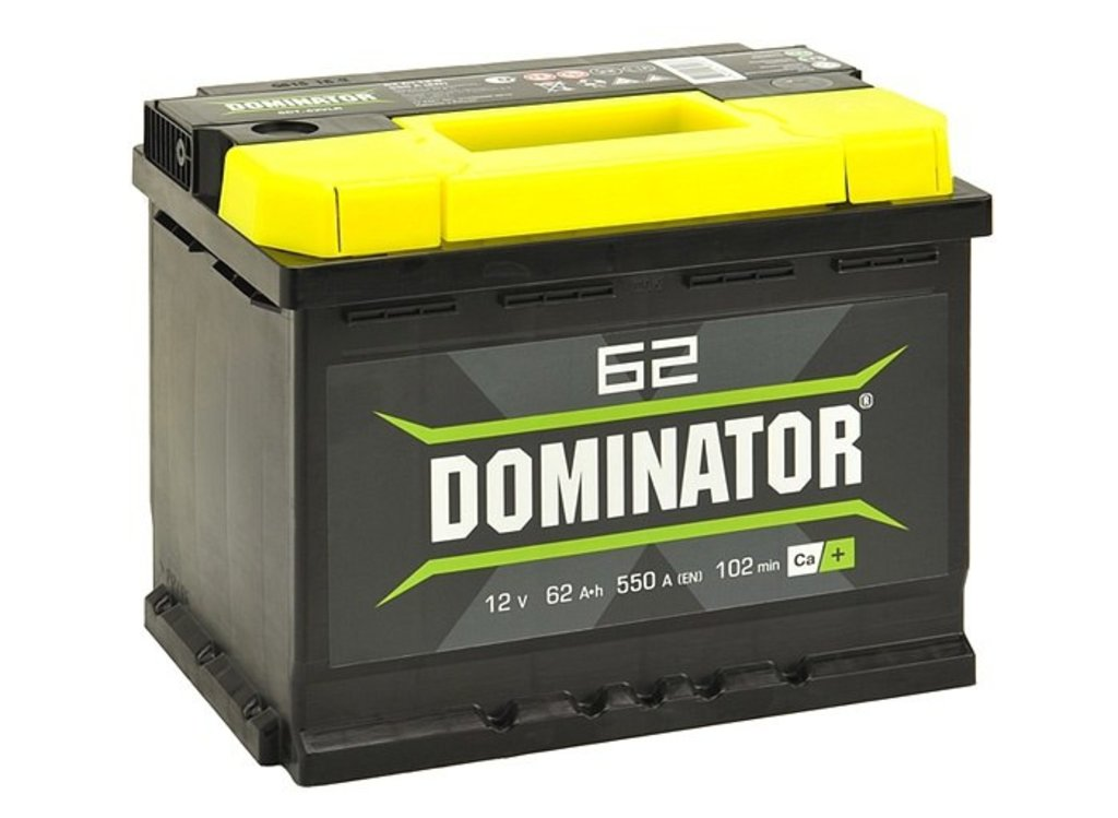 Dominator: Аккумулятор Dominator 62 А/ч в БазаАКБ