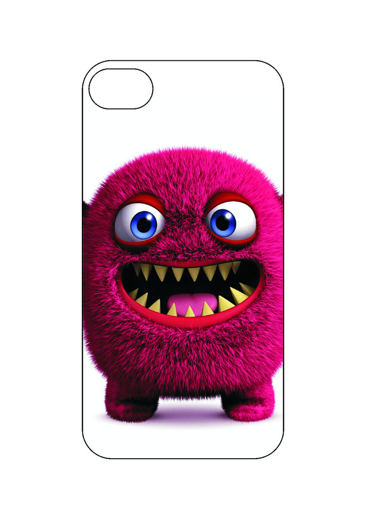 Выбери готовый дизайн для своей модели телефона: Красный монстр в NeoPlastic