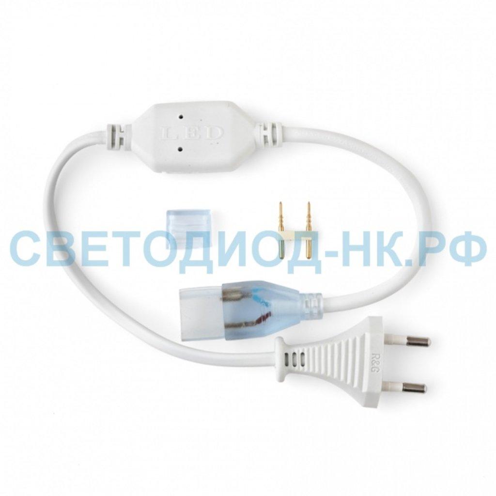 Комплектующие к ленте: Вилка для ленты 220В, заглушка, коннектор 2 pin (для монохромной ленты до 40 метров) в СВЕТОВОД