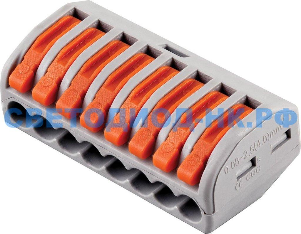 Клеммы: Строительно-монтажные клеммы 8-проводные STEKKER, LD222-418 в СВЕТОВОД