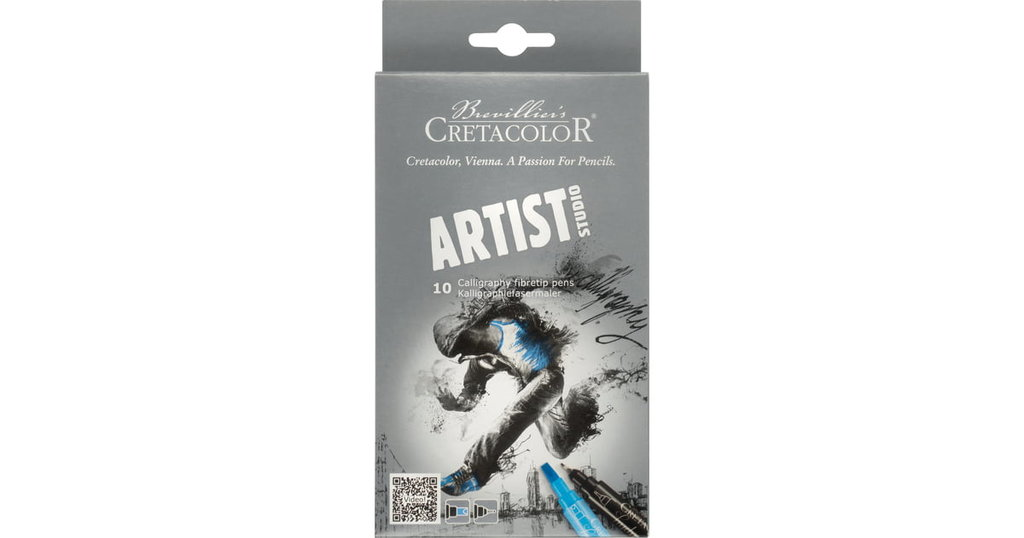 Каллиграфия, гохуа: Двусторонние маркеры для каллиграфии 10шт Artist Studio Line в Шедевр, художественный салон