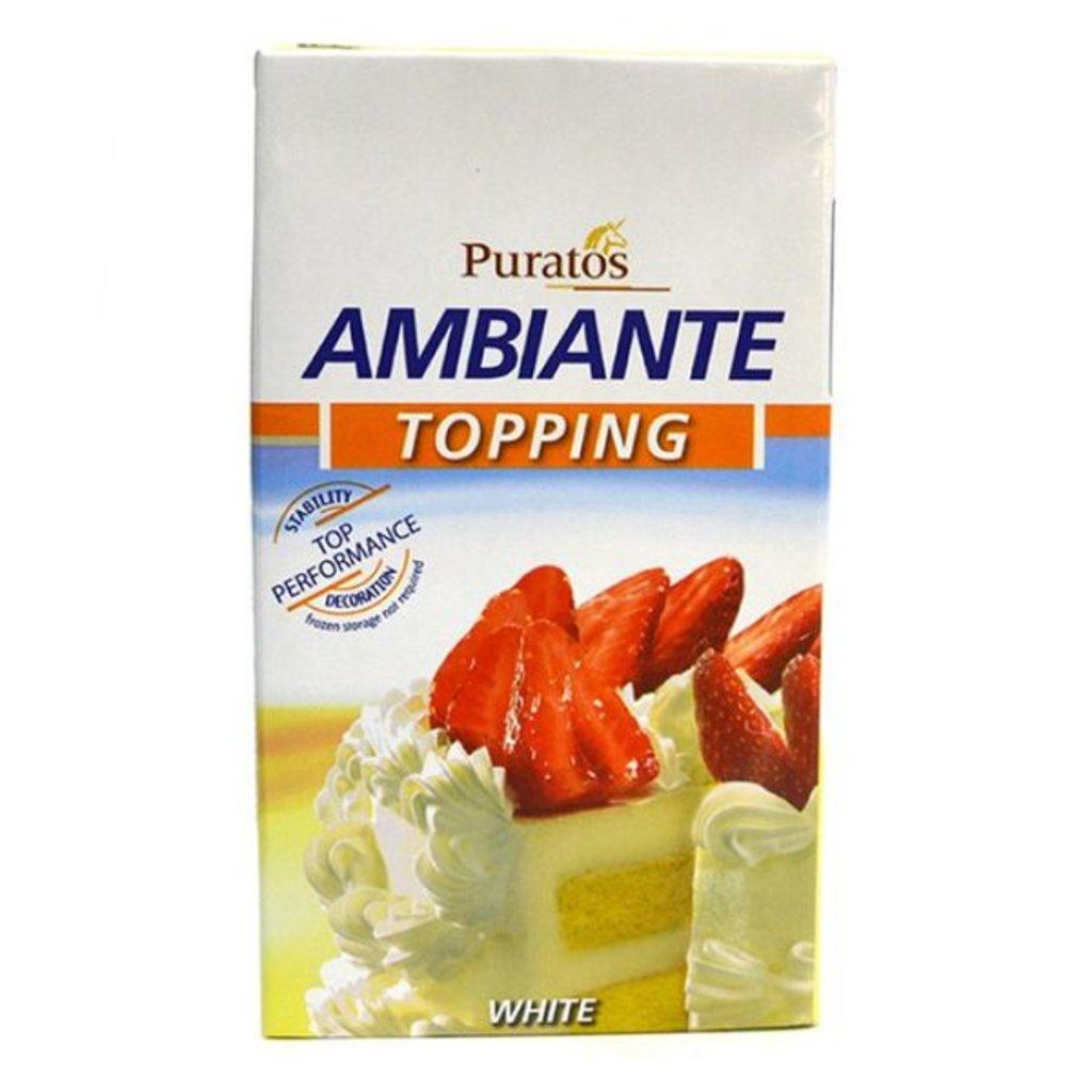 Сливки,молоко: Растительные сливки для взбивания Амбианте,1 л в ТортExpress