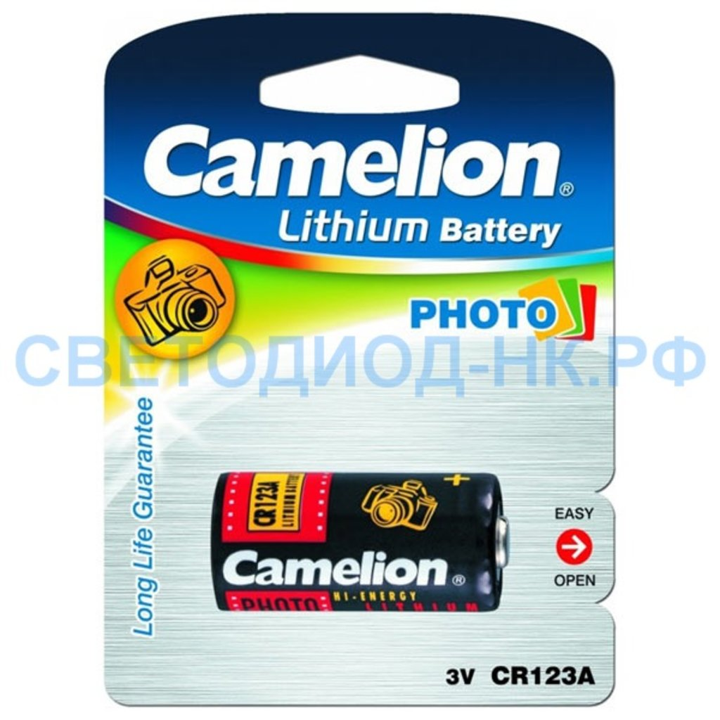 Батарейки: Элемент питания Camelion PHOTO CR123A BL1 в СВЕТОВОД