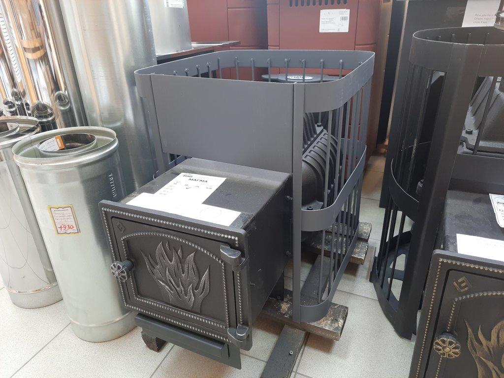 Печи и дымоходы: Печь для бани Этна Магма 14 (ДТ-3), чугун 8-10 мм. в Погонаж