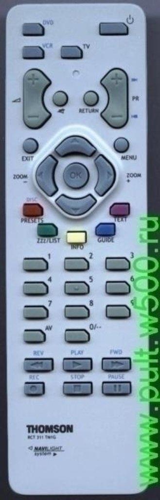 THOMSON: Пульт THOMSON RCT311TM1G ( TV.DVD.VCR ) оригинал в A-Центр Пульты ДУ