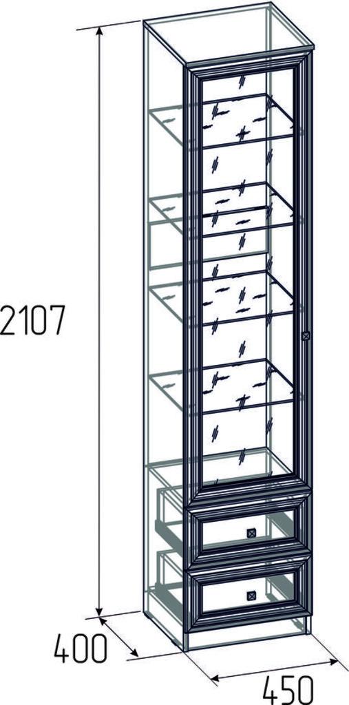 Буфеты и серванты: Шкаф для посуды Paola 13 в Стильная мебель