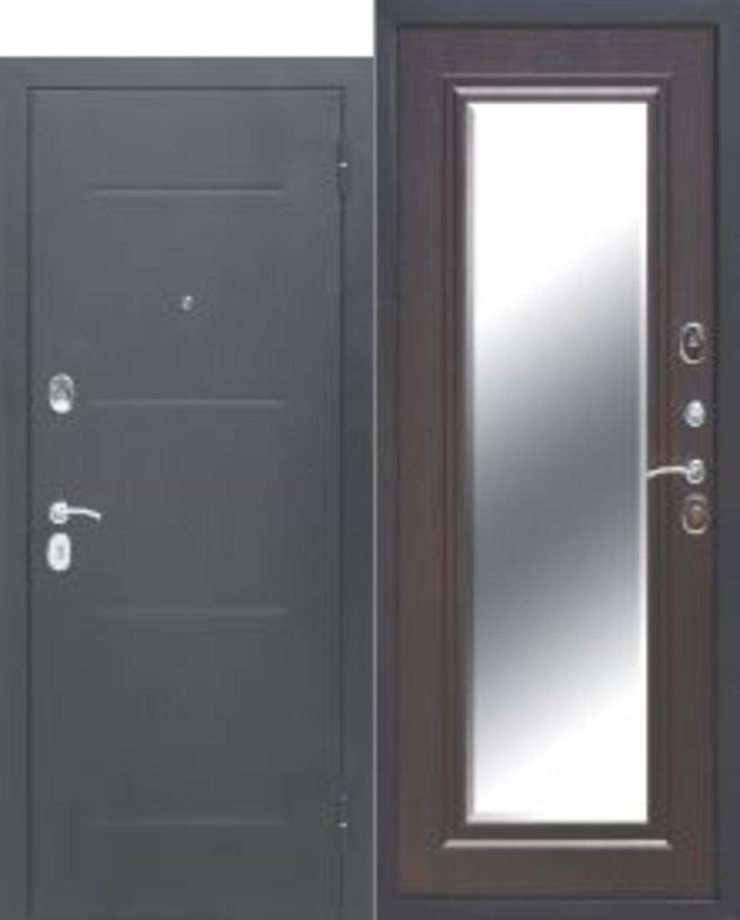 Двери завода Феррони: 7,5 см GARDA Гарда Серебро Зеркало Фацет ВЕНГЕ в Модуль Плюс