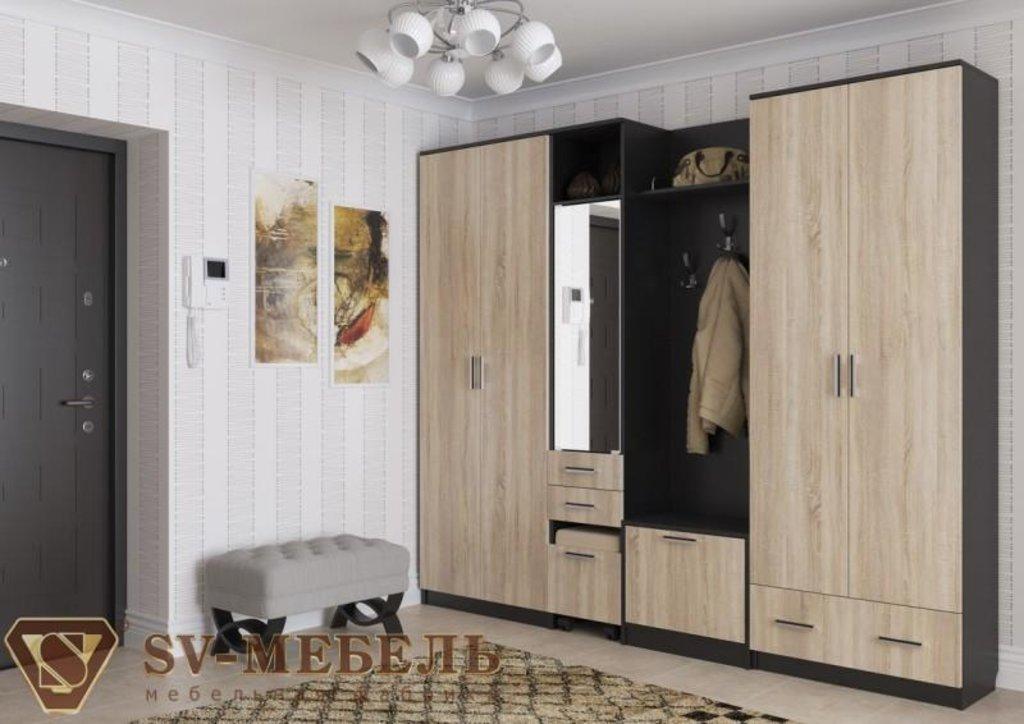 Мебель для прихожей Консул 2: Пенал с пуфиком Консул 2 в Диван Плюс