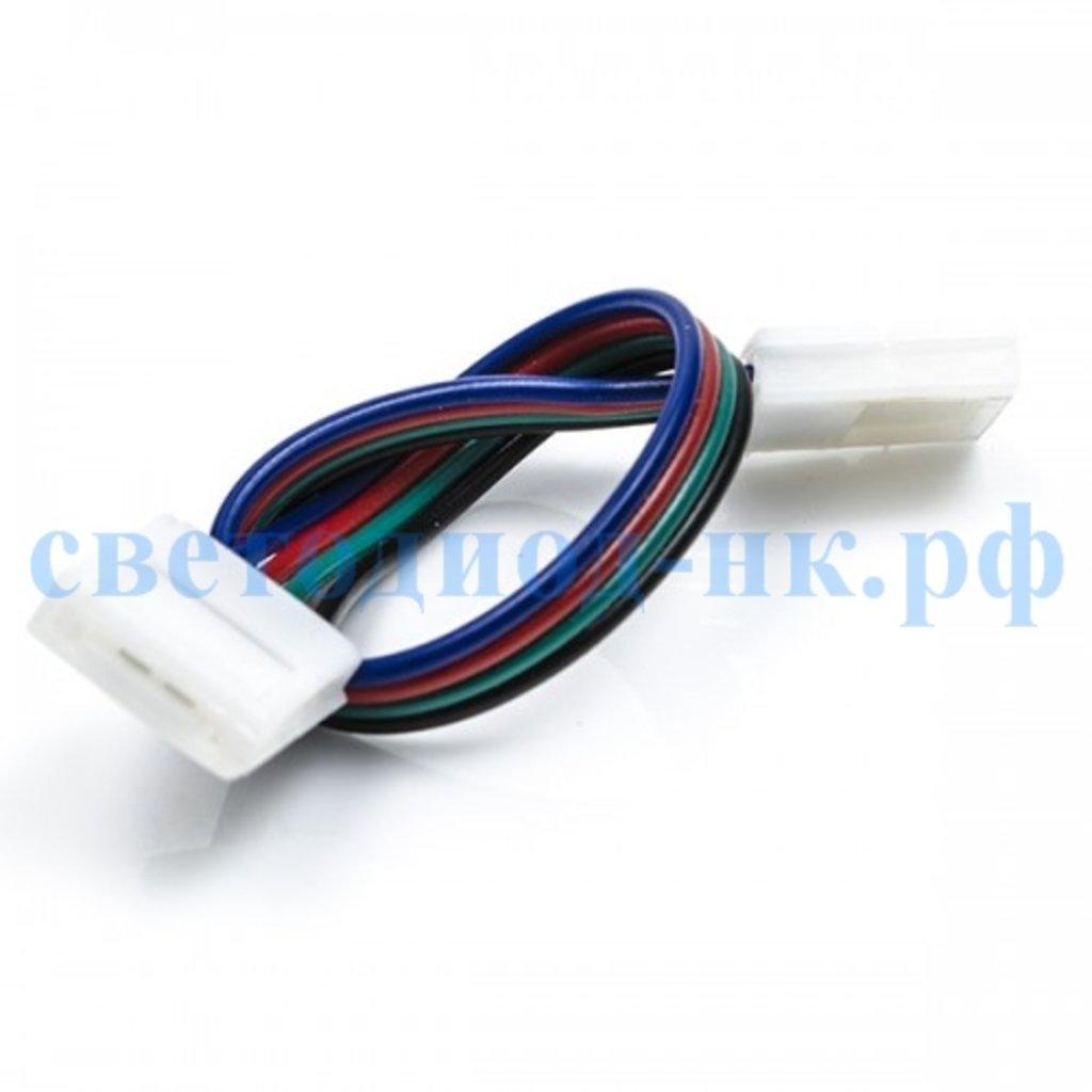 Комплектующие к ленте: Ecola Коннектор 15см зажим-зажим 4-х конт SMD 5050 в СВЕТОВОД