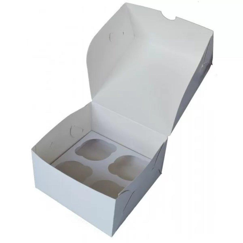Коробки для капкейков: Коробка на 4 ячейки ( 4 капкейка) в ТортExpress